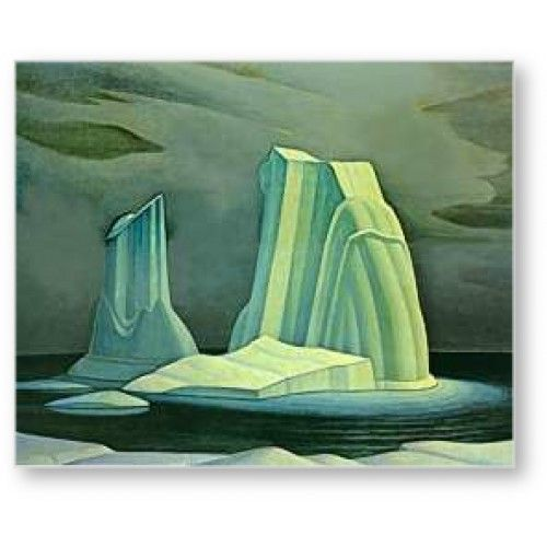 Icebergs Davis Strait by Lawren Harris, Canadian artist in the Group of Seven he created