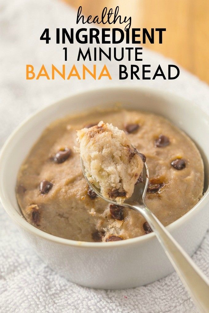 Healthy 1 Minute Banana Bread Using 4 Ingredients And So