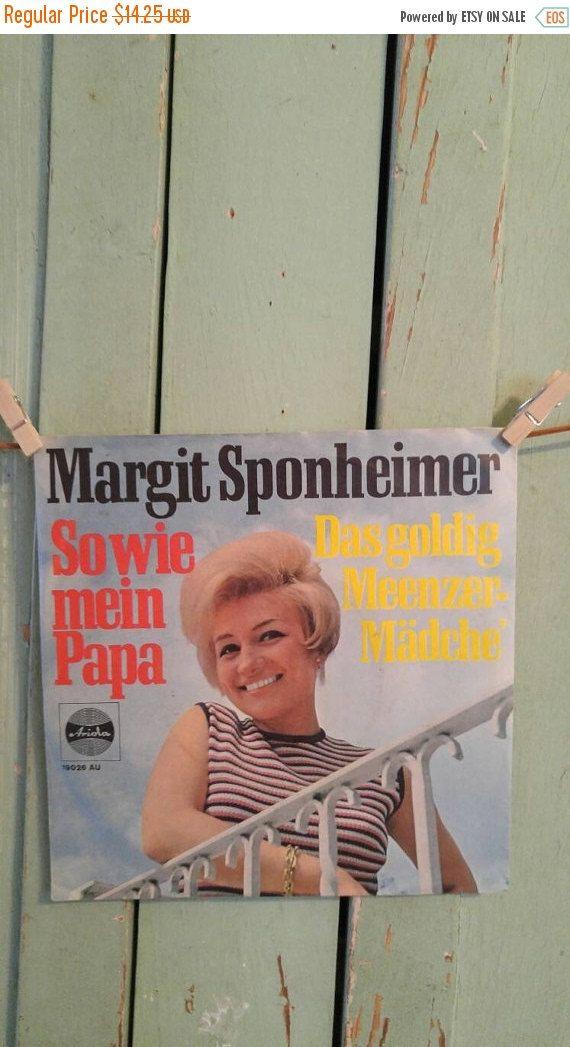 45 rpm  Vinyl Record Margit Sponheimer #TheIDconnection http://etsy.me/2abGDOB #Etsy #1966 #MargitSponheimer #45records #vinylrecords #RolandDressler @iantiqueonetsy #MidCentury  http://theidconnection.etsy.com rolanddressler@gmail.com