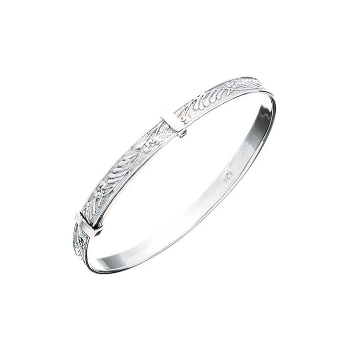 Childs patterned silver bangle #christening #kids #jewellery