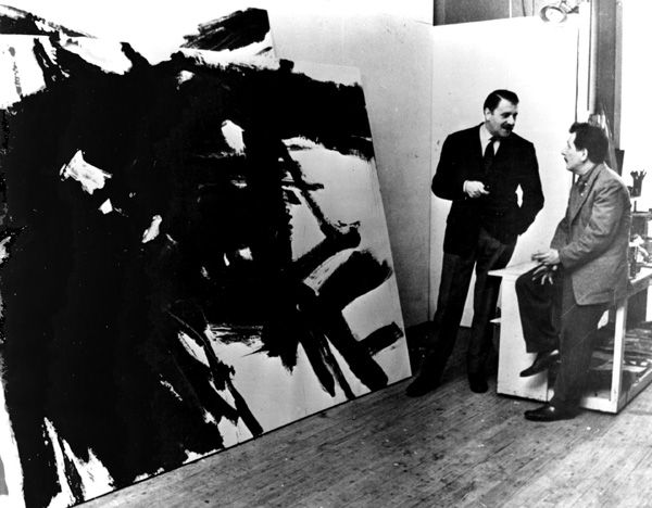 Artistandstudio franz kline rt in his new york studio archivio galleria del cavallino via sweet pea and sweet tea