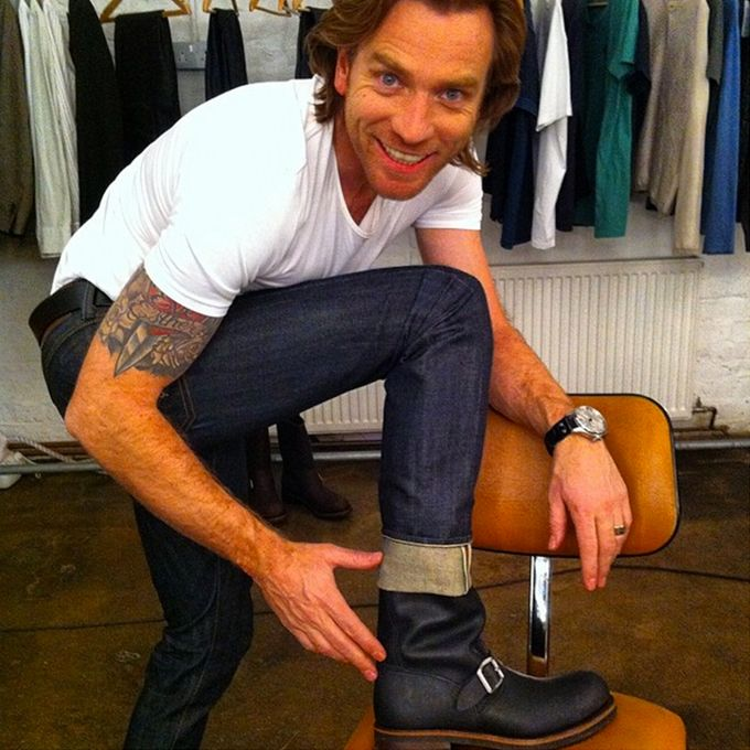 Brides.com: . Ewan McGregor. One of the most prominent celebrity tattoos, McGregor went for a heart and dagger sleeve to honor his wife of 20 years and daughters.