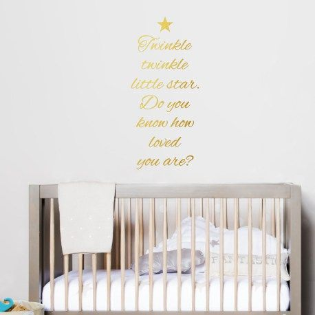 Twinkle Twinkle Little Star Wall Decal For The Kids Bedroom. Cute Nursery Decor. Easy To Apply Vinyl Decal - wallineed.com
