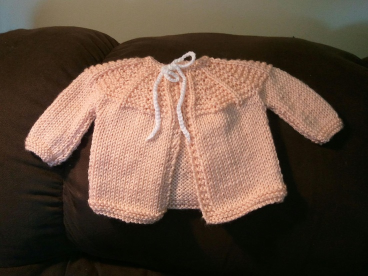 Peach sweater to go with the dress I made earlier.