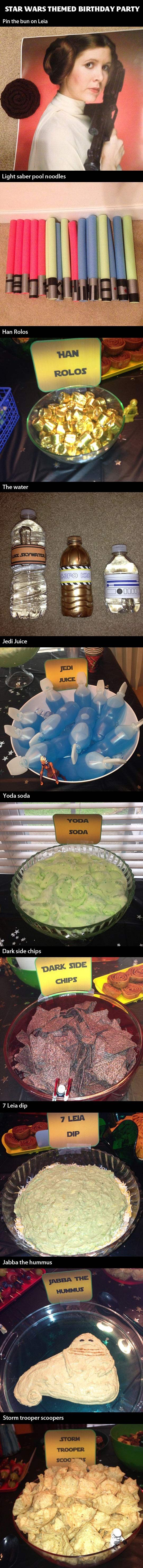 Star Wars themed birthday party…