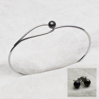 Yggdrasil - Armband + Örhängen Svart