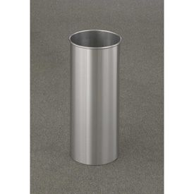 7 gallon 9 x 23 wastebasket or umbrella holder satin aluminum outdoor u0026 indoor trash cans recycle bins u0026 ashtrays for commercial office or home