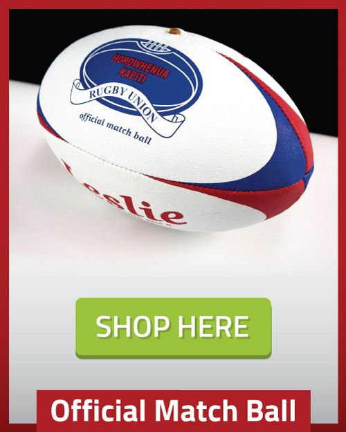 Official Rugby Ball of Horowhenua Kapiti Rugby Union by LeslieRugby - shop here http://tinyurl.com/y8c8sjaa