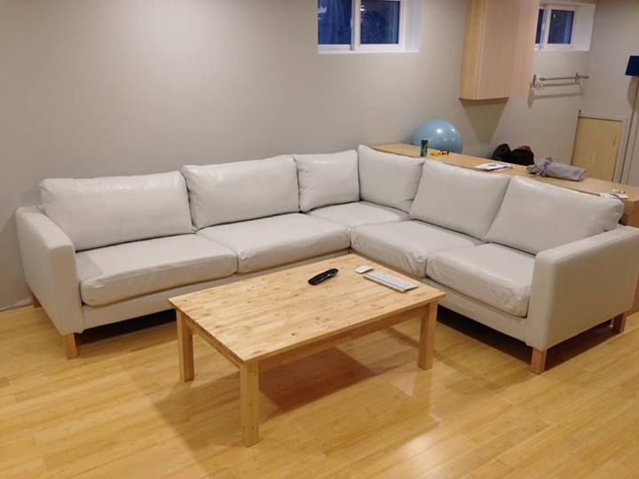 Customer Review We Wanted A Karlstad 2 3 Corner Couch In White Leather But Ikea Doesn T Offer T Corner Sofa Covers Couches Living Room Corner Sofa Slipcover