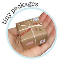 Send a teeny-tiny package that includes a mini object inside (my favorite is the tiny bouquet).