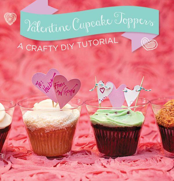 DIY Tutorial: Valentine Cupcake Toppers
