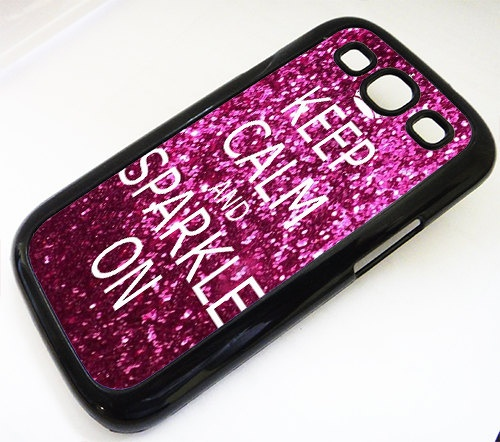 Samsung Galaxy S3 case Keep Calm and Sparkle On by ExpressoPrint, $19.95