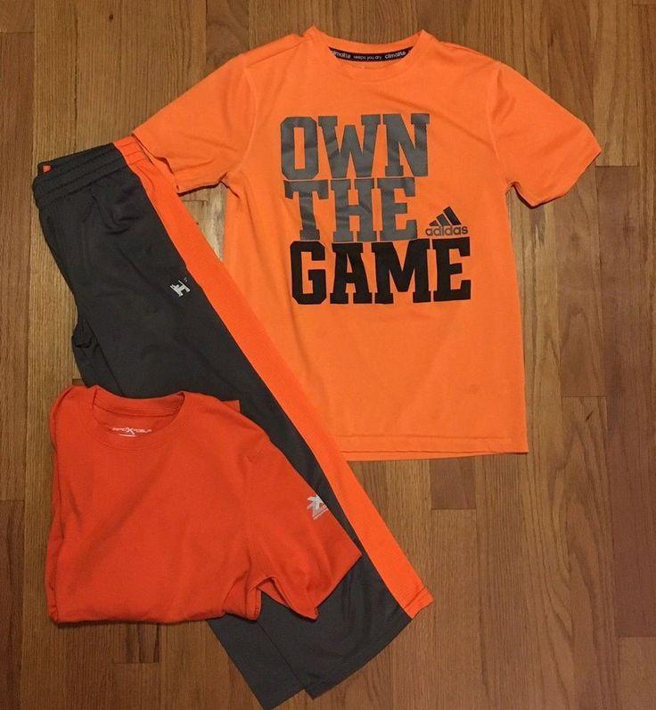 ADIDAS Zero Xposure Mambo Athletic T-shirt Pant Outfit Boys size M 8-10, 10-12 #adidas #Everyday