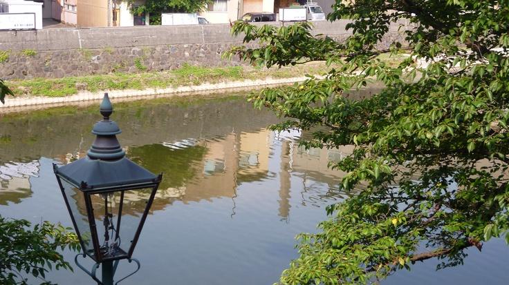 金沢市主計町茶屋街から見る金沢の〝おんな川〟浅野川