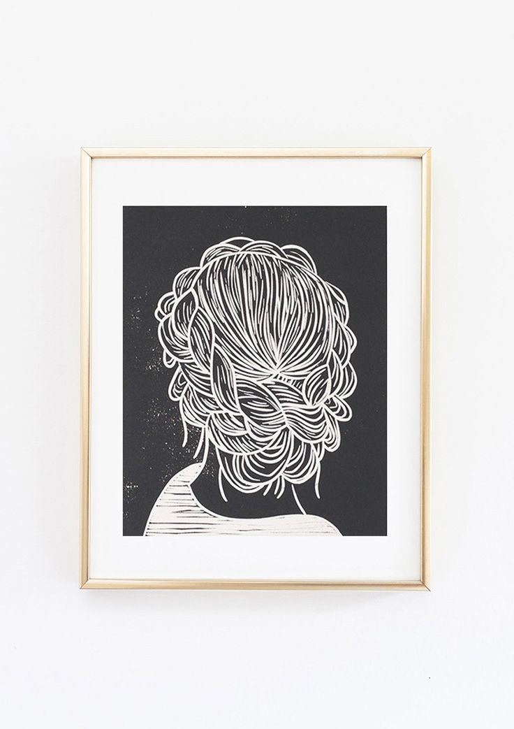 Set Forth Studio – Braids Linocut Print, $45 // Looking for a little boho hair inspiration? This art print will look gorgeous on your wall, and makes a great gift. Buy it now in the shop!