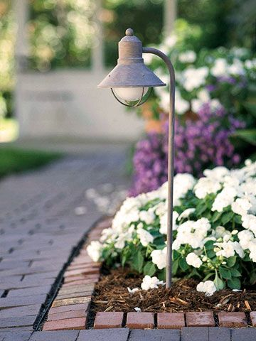 Keep It Safe        Well-lit garden paths are safer to walk on. Low-voltage lighting and solar landscape lights add style as well.        Click here for more on landscape lighting