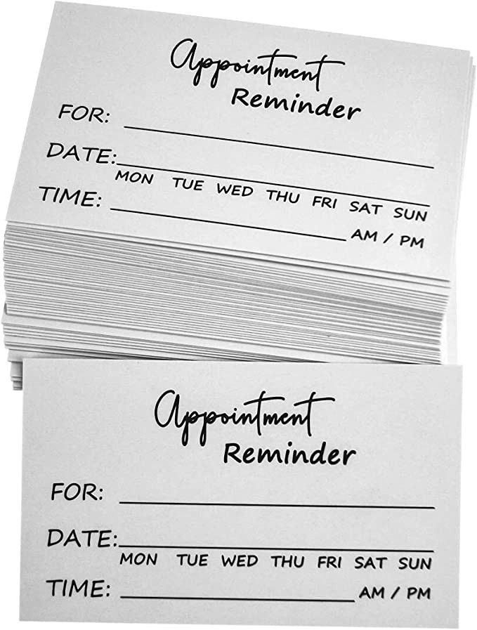 Free Printable Appointment Reminder Cards Card Templates Personalized Greeting Cards Free Place Card Template