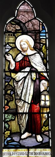 Cold Aston St Andrew south-west chancel window 'Behold I stand at the door and knock', Butler and Baynes 1909 -117