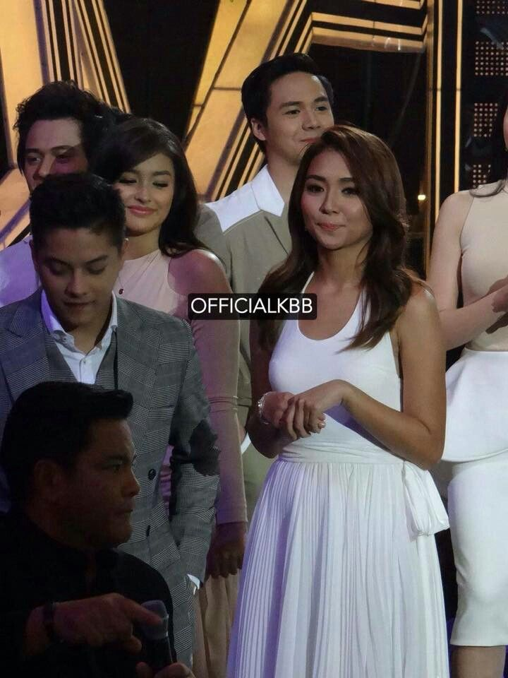 This is Enrique Gil, Liza Soberano,Daniel Padilla, Kathryn Bernardo, and Julia Montes smiling for the camera after walking on the stage during the Parade of Star Magic Talents during Star Magic Day on ASAP 20 at the ABS-CBN Studio 10 last July 27, 2015. #EnriqueGil #LizaSoberano #AteHopie #LizQuen #KathrynBernardo #DanielPadilla #KathNiel #KathNielBernaDilla #StarMagic23 #starmagic23rdanniversary