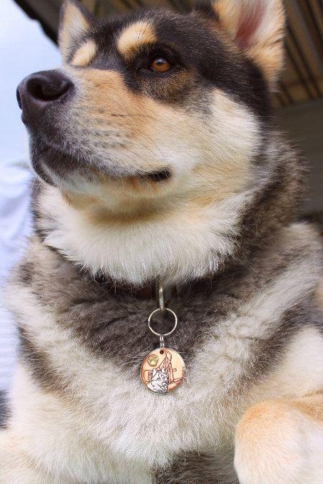 Handmade Dog ID Tag Iditarod Dreams-Alaskan by IslandTopCustomTags