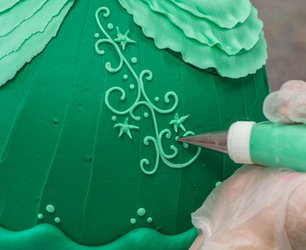Learn how to make a Disney Princess Doll Cake featuring Ariel from The Little Mermaid.