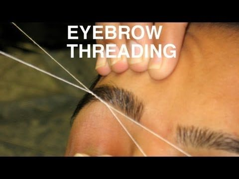 DIY PERFECT EYEBROW THREADING TUTORIAL : DIY GET PERFECT EYEBROW SHAPE: one of the best tutorials. FF to actual threading demonstration. Oh and this is probably the least painful way to remove hair and works on every part of the body! Better than wax or plucking. and it takes about 1 month for hair to grow back and even for hair that grows back fast about 2.5 weeks of no hair.. learn to do for legs and other areas. fast and sanitary!