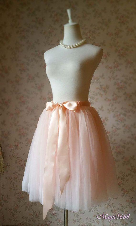 Adult Tutu Skirt. Blush Bachelorette Tutus Soft Tulle Skirt Knee Pink Adult Tulle Skirt. Blush Wedding 2016 Summer Women Tutu…