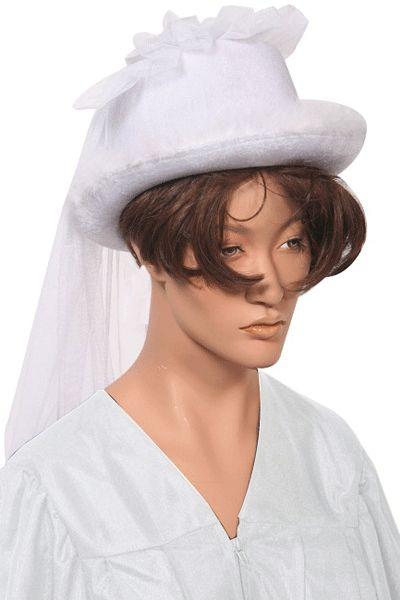 Witte bruidsfeesthoedjes voor een vrijgezellenfeest