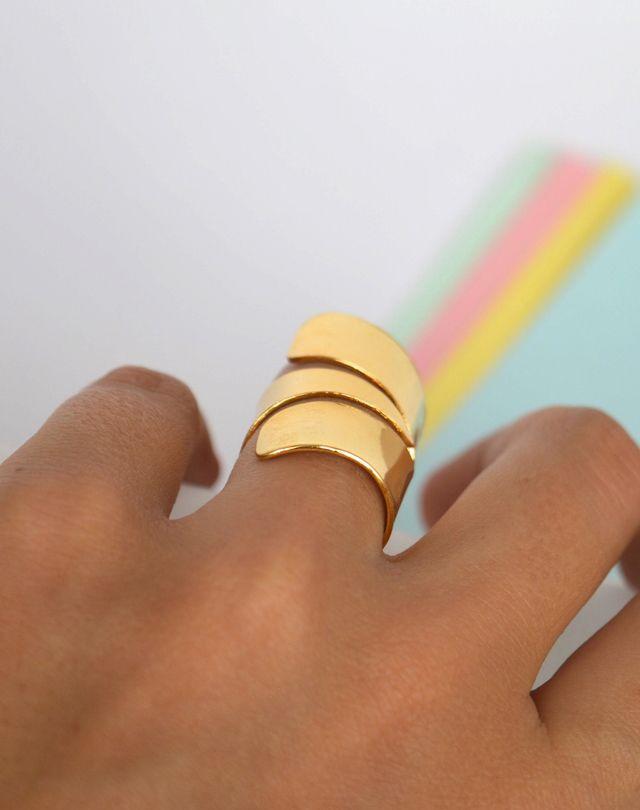 Ring delta #handmade #Unakita #indiedesign #hechoamano #diseñoindependiente #currucutu #accesorios #accessories