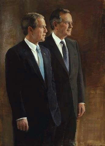 President George H.W. Bush & his son President George W. Bush