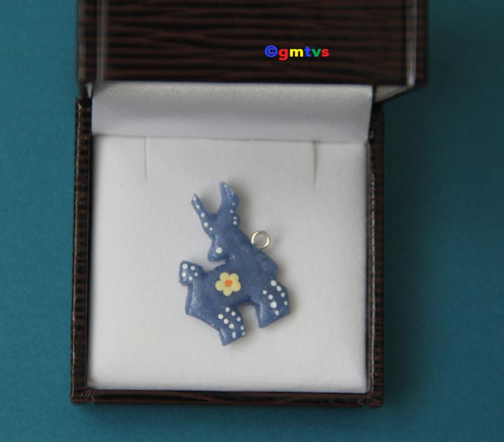Blue Deer -Polymer Clay Charm