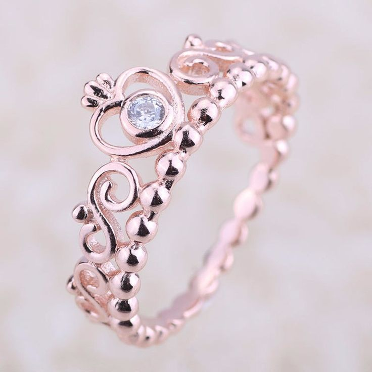 Compatible with Europe Jewelry Ring 100% 925 Sterling Silver My Princess tiara Ring Design Wedding Rings Jewelry DIY Wholesale