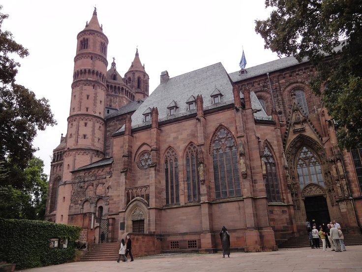 Worms, Germany ~ saw this every morning for a month, and swore there was the ghost of a young maiden that lived in one of the towers.  Gimme a break, I was nine yrs old! ;0)