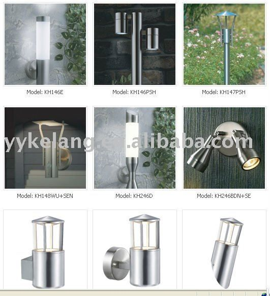 .stainless steel body1. Stainless steel body2. Diffuser: OpEl PC3. Excl.bulb4. E27 MAX 60W5. 220V-240V AC great pin!