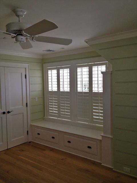 Plantation Shutter Window Seats And Moldings On Pinterest