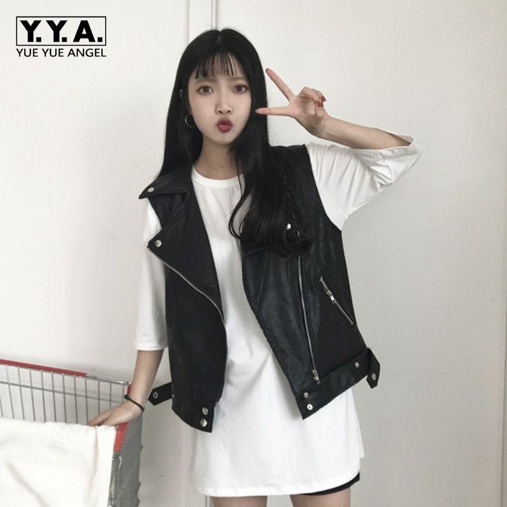 >> Click to Buy << Summer Fashion New Loose Fit Zipper Jacker Colete De Pelo Womens Vest Motorcycle Coats Female Waistcosts Jaqueta De Couro Black #Affiliate