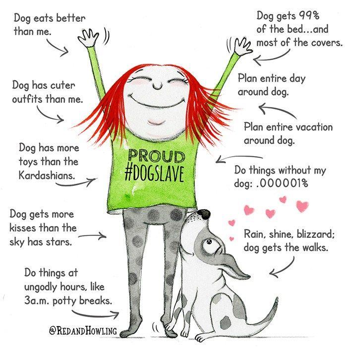 Proud Dogslave Crazy Dog Lady Happy Dogs Dog Love