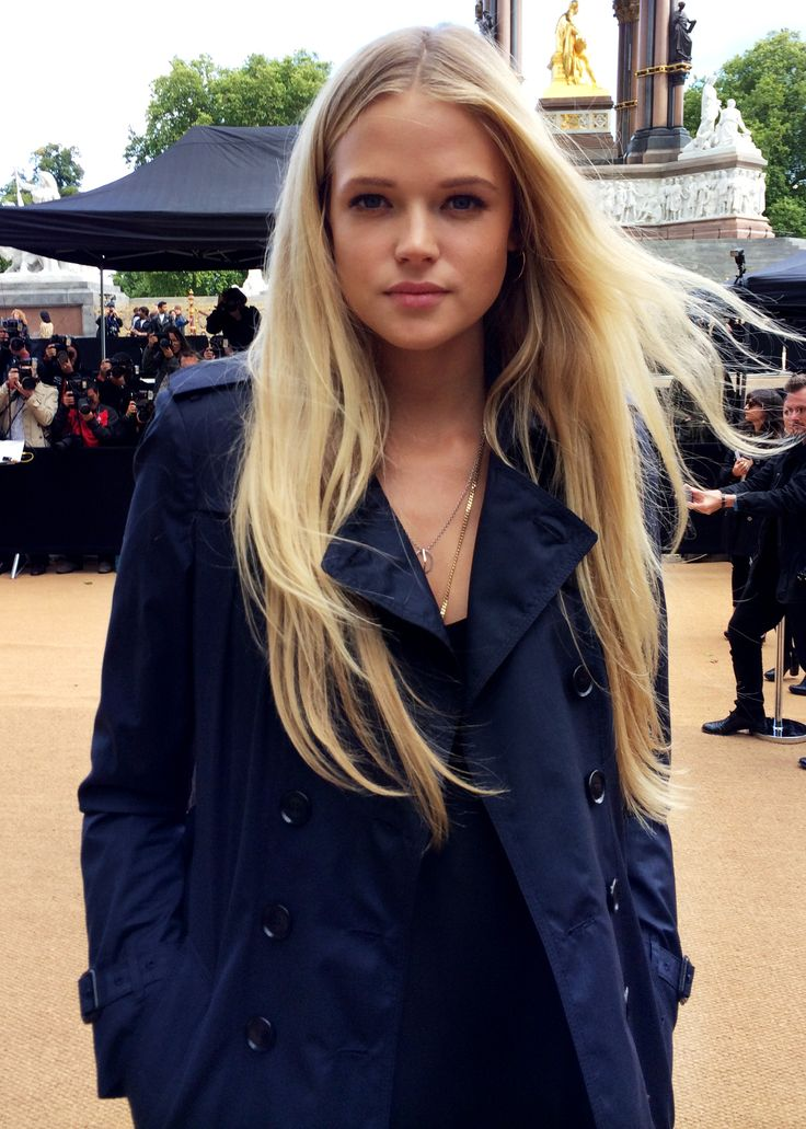British actress Gabriella Wilde wearing Burberry Make-up as she attends the S/S14 show - shot with #iPhone5s