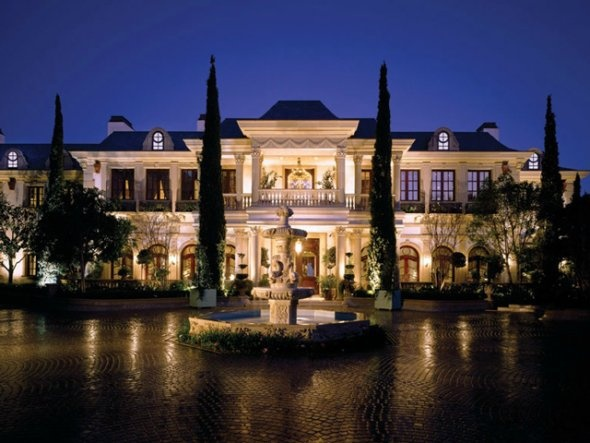 This $ 85 million house in Beverly Hills. The house is known as Le Belvedere and has a 12 person spa.
