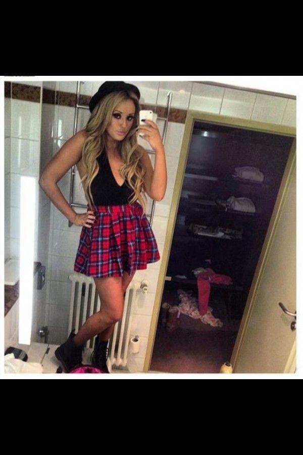 I need this skirt! Asos tartan skater skirt as seen on Charlotte Crosby