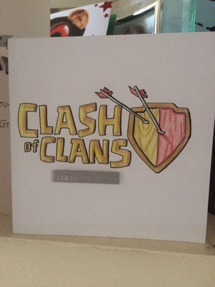 Clash of clans birthday card