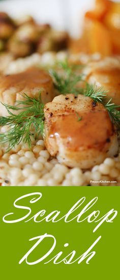 Seared scallops paired with cous cous, Brussels sprouts and beets | Dinner recipes, date night recipes, seafood recipes, easy seafood recipes