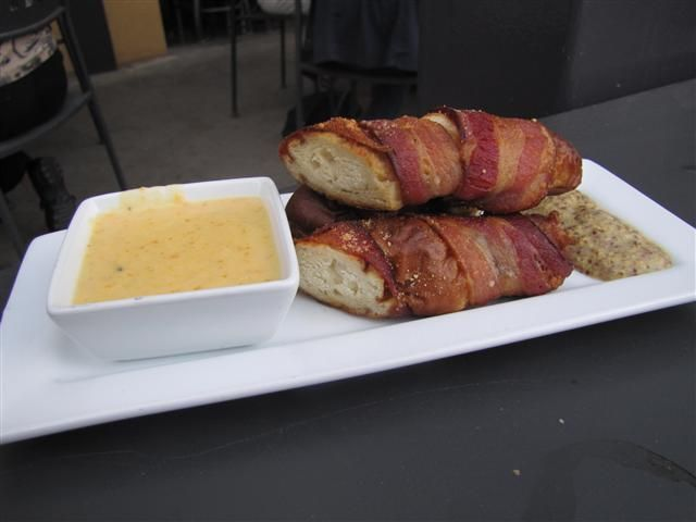 Bacon-wrapped pretzels at Fort Collins Brewery