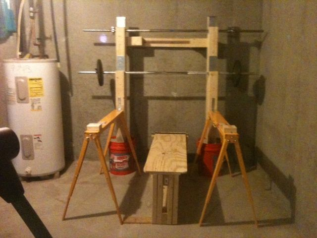 Homemade squat rack projects to try pinterest for How to make a homemade squat rack