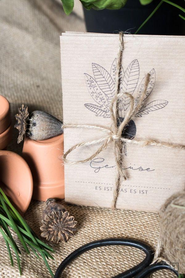 Samentüten und Samenpakete schnell selber machen. Seed Pakets sind tolle Geschenke und bieten eine super Archivierung der eigenen Samenbestände.