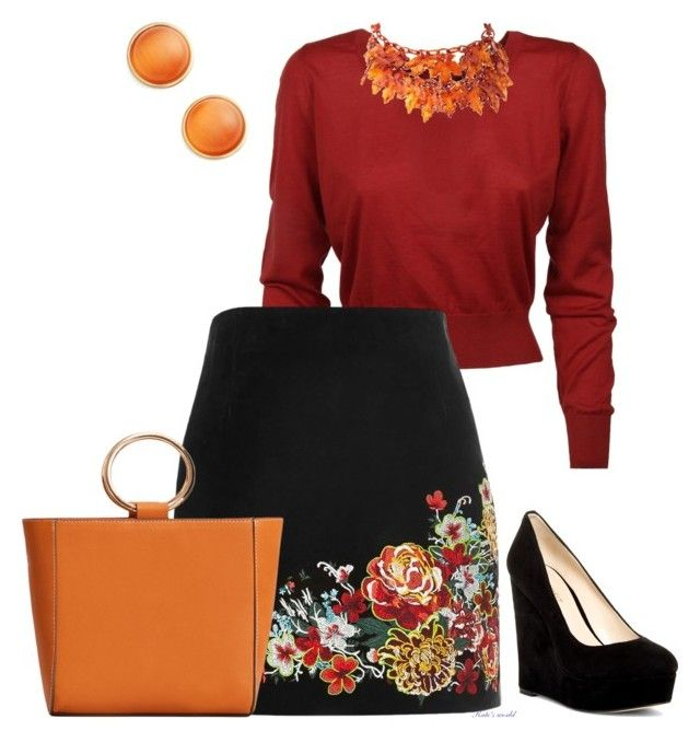 """""""dress2235"""" by k-meszaros on Polyvore featuring Dolce&Gabbana, River Island, Nine West, MANGO and Kate Spade"""