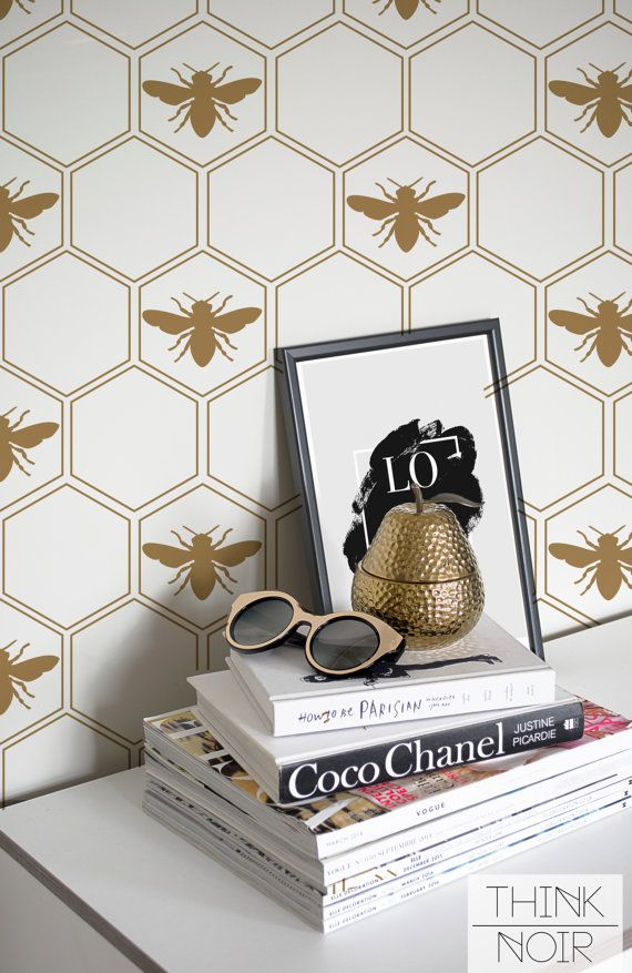 Geometric Honeycomb Wallpaper / Geometric by ThinkNoirWallpaper