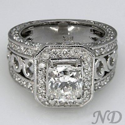Engagement Rings ::  Cushion Cut Diamond Engagement Ring