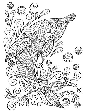 free printable adult coloring pages in 2020  dolphin
