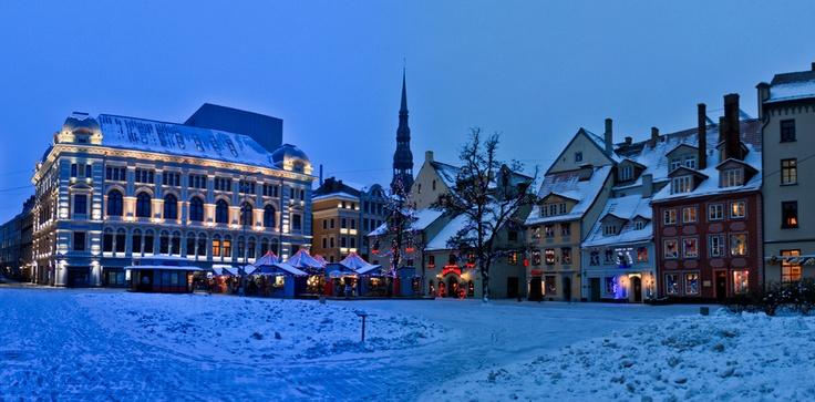 The Christmas market in Riga, Latvia.